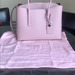 Kate Spade margaux large satchel, pink,new